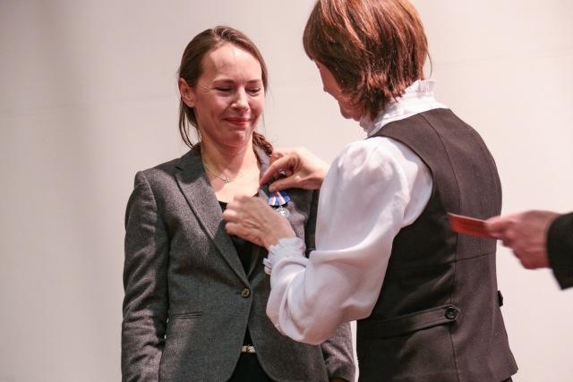 Настя Захарова с медалью