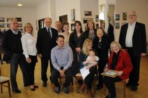 Семья Ингибьорг на приёме в Посольстве России